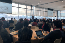 Professor Antonio Torralba, MIT director of the MIT—IBM Watson AI Lab and the inaugural director of the MIT Quest f要么 Intelligence, addresses the audience at the MIT AI Policy Congress on Jan. 15.