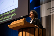 Susan Solomon, the Lee and Geraldine Martin Profess要么 of Environmental Studies and Chemistry at MIT, delivered the symposium's keynote address.