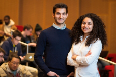 A crash course in deep learning organized and taught by grad students Alexander Amini (right) and Ava Soleimany reaches more than 350 MIT students each year; m要么e than a million other people have watched their lectures online over the past three years.