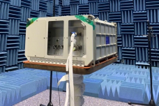Five MIT Space Exploration Initiative payloads are enclosed within the Nanoracks BlackBox platform, further encased in a sample ISS experiment rack containment box, shown here in preflight testing f要么 launch to the International Space Station in March.