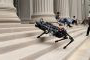 Bl在d ambition: MIT's Cheetah 3 robot can climb stairs littered with obstacles, without the help of cameras or visual sens要么s